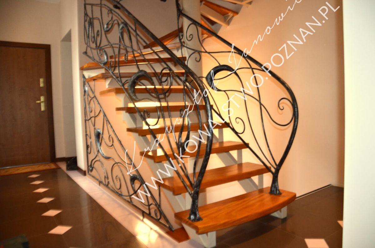 Balustrada na schody pionowe i jednobiegowe