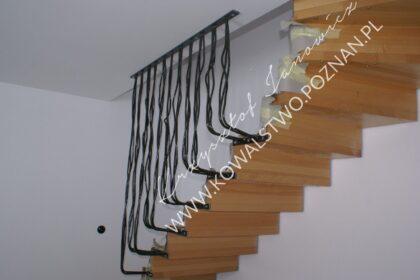 Balustrada na schody wachlarzowe do sufitu