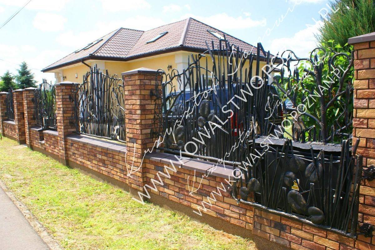 Ogrodzenie kute przęsła ogrodzeniowe
